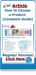 how to choose the right incontinence product article