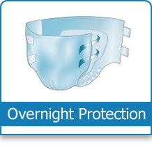 button for overnight adult diapers and incontinence products category