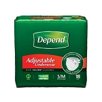 Men's Depend Adjustable Underwear