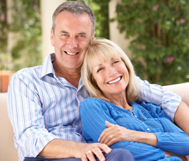 senior couple for light incontinence products page