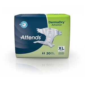 Attends DermaDry Briefs for Heavy Absorbency