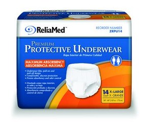 Invacare ReliaMed Protective Underwear (Medium to Heavy)