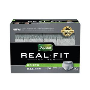 Depends Real fit Brief for Men (Heavy)
