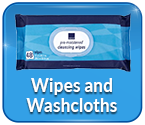 Adult Wipes  &  Washcloths