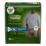 Depend Fit-Flex Pull Ons for Men (Maximum absorbency)