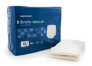 McKesson Brief with Cloth Backing - Moderate Absorbency