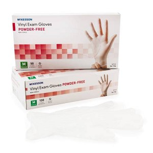 McKesson NonSterile Powder Free vinyl Clear glove