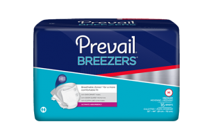 Prevail Breezers Adult Briefs product packaging